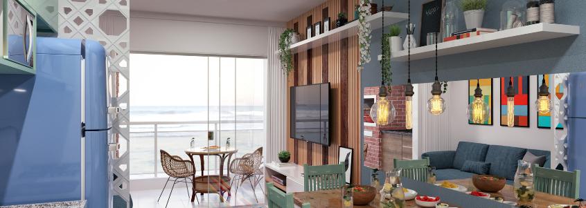 O estado de conservação influencia diretamente no preço de um apartamento na praia.