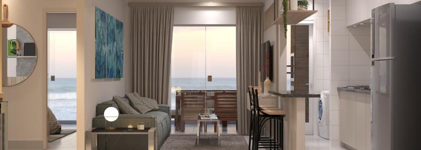 Luz solar remete à valorização e consequentemente influencia no preço de um apartamento na praia.